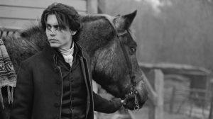 Johnny Depp on location, Sleepy Hollow, England, 1999