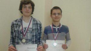 Радослав Димитров от Пловдив със златен медал и Мартин Копчев от Габрово със сребърен
