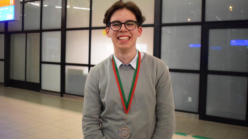 Петър Христов (12 клас, СМГ) - сребърен медал;