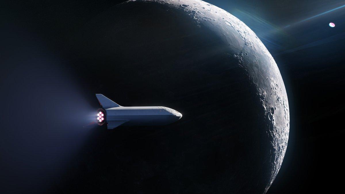 От SpaceX обявиха, че ще изпратят човек на обиколка около Луната с мощната ракета BFR