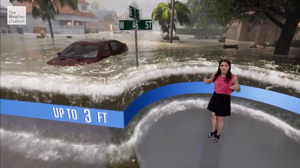 The Weather Channel пусна зрелищна прогнозата за времето преди урагана Florence (видео)