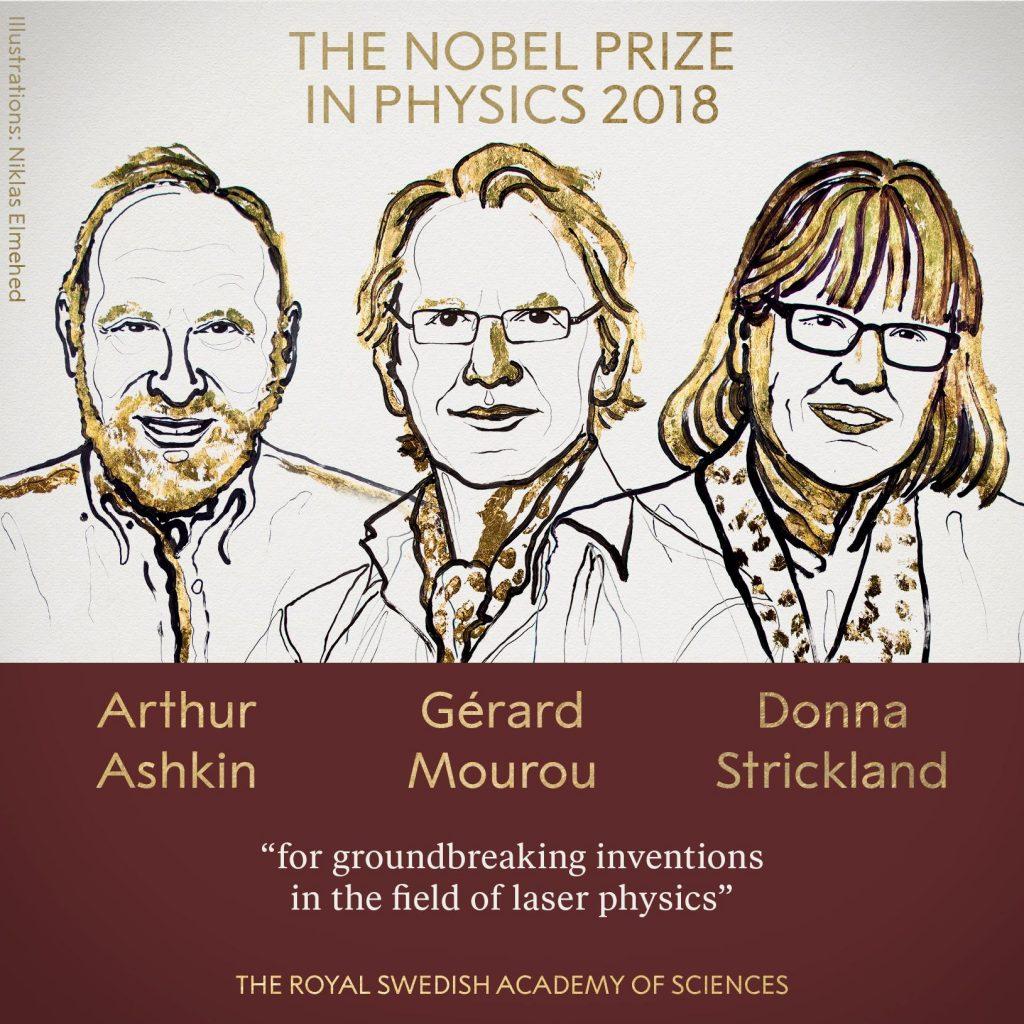 Трима учени получават Нобелова награда за физика за революционно развиване на лазерната физика