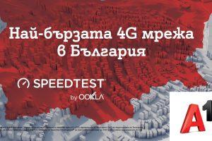 От лятото А1 е с най-бързата 4G мрежа в България показват тестовете на Ookla