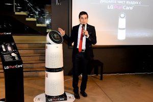 LG пуска на българския пазар най-мощния си пречиствател на въздух за дома и офиса LG PuriCare