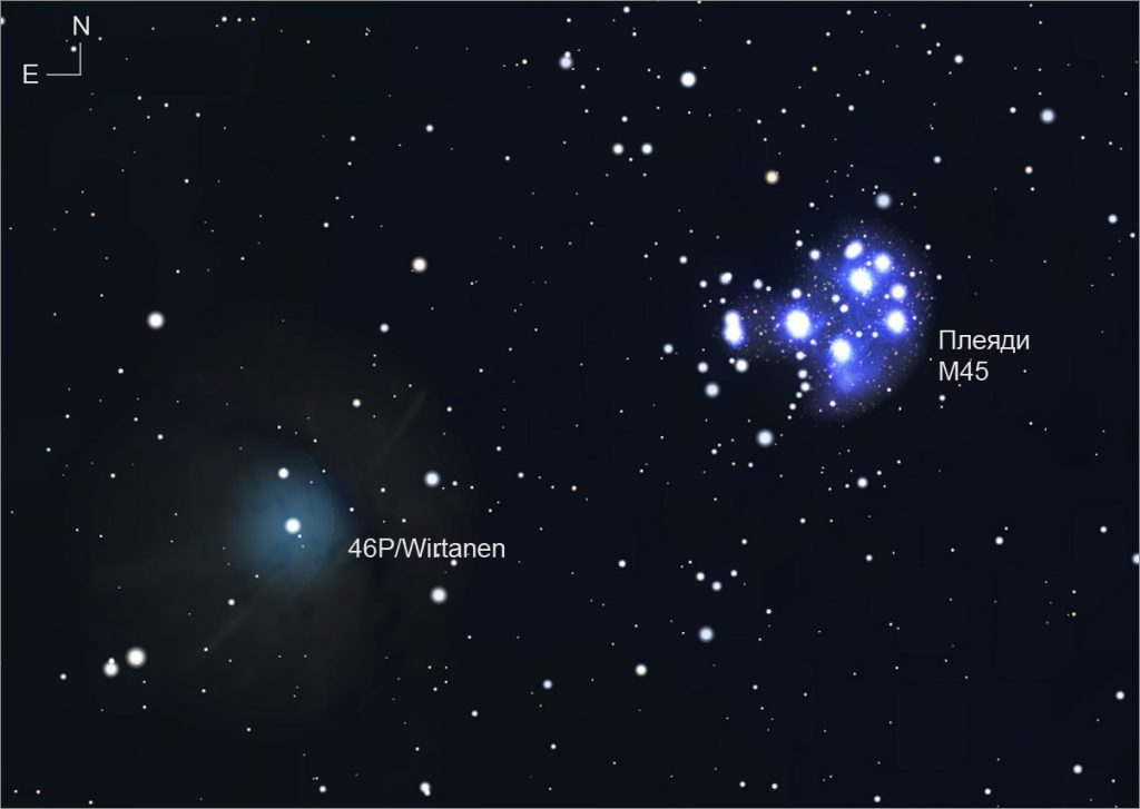 Идва най-очакваната комета за 2018 година - 46P/Wirtanen