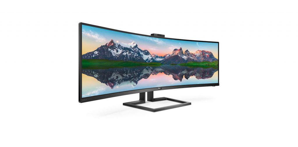 Новият монитор на Philips е супер-широк извит 49-инчов звяр с резолюция 5120x1440
