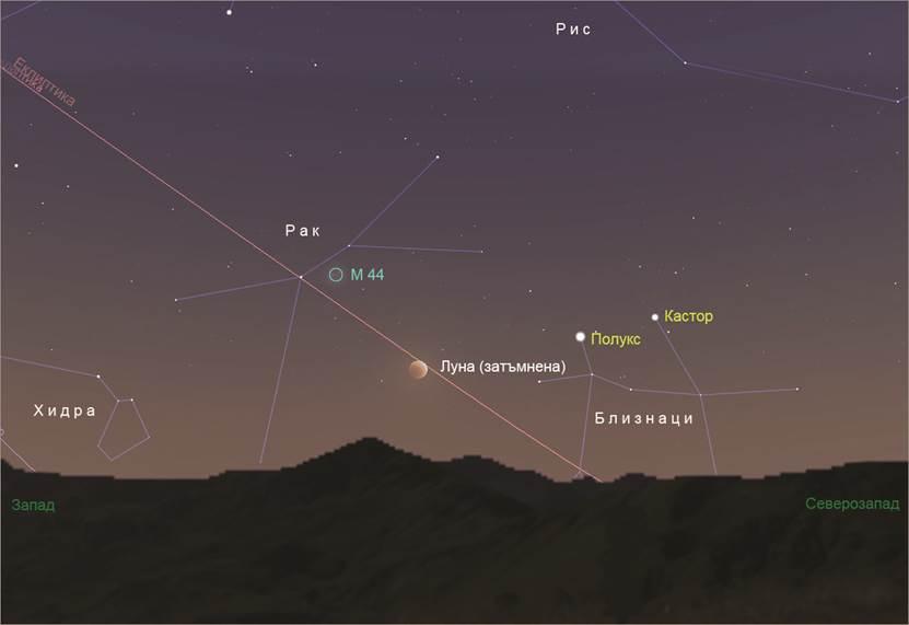 На 21 януари от България ще се наблюдава пълно лунно затъмнение