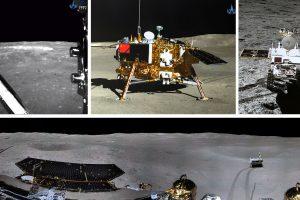 Китай пусна видео от кацането на Chang'e 4 на далечната страна на Луната както и панорамни снимки