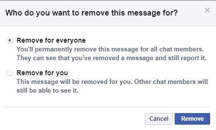 Facebook вече разрешава да триете съобщенията си в Messenger