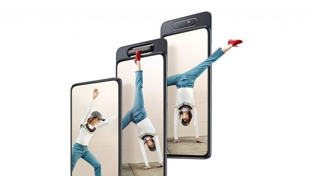 Samsung Galaxy A80 с първата въртяща се тройна камера вече се продава в България (видео)