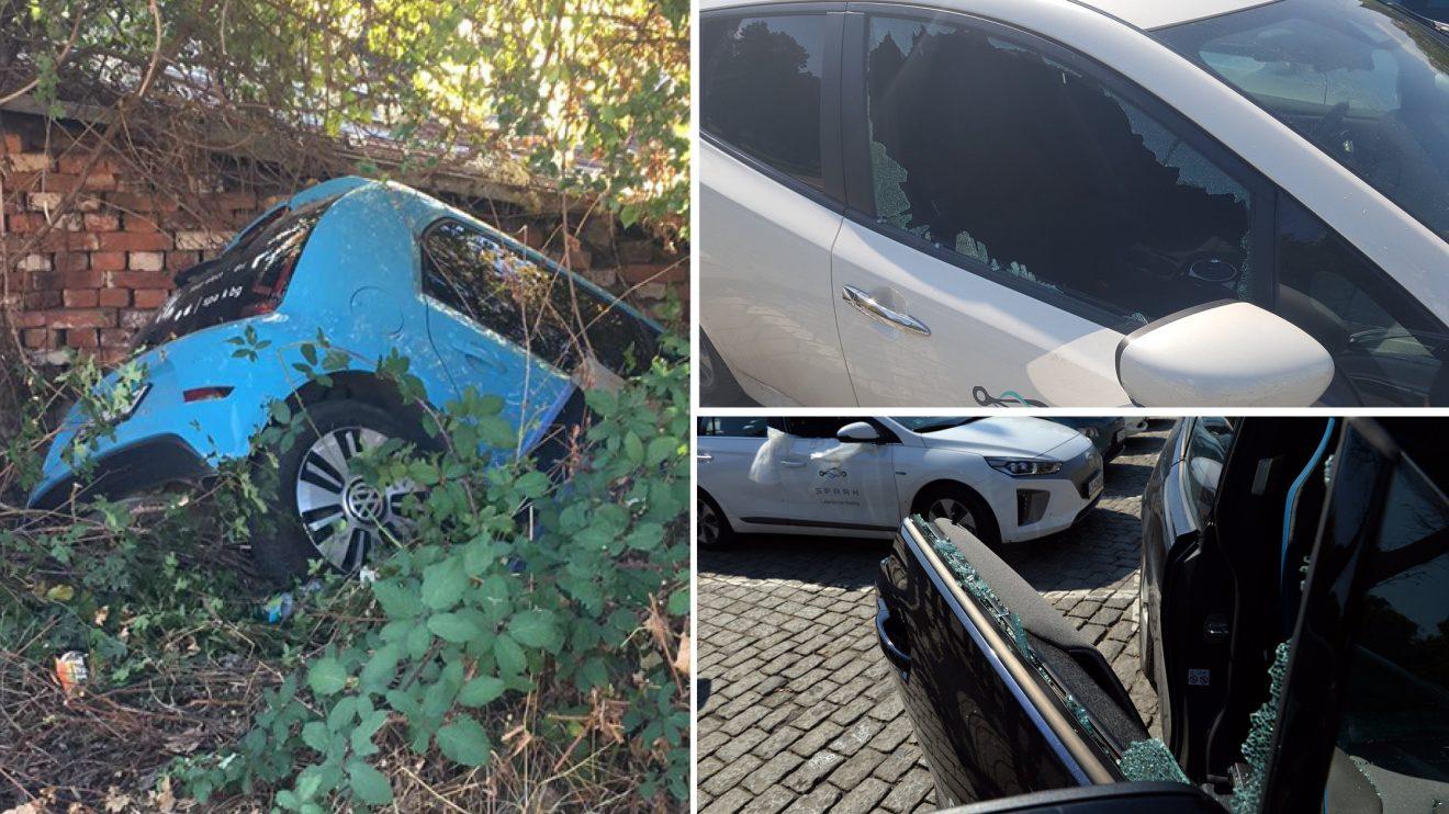 Масирани вандалски прояви срещу колите на SPARK в София