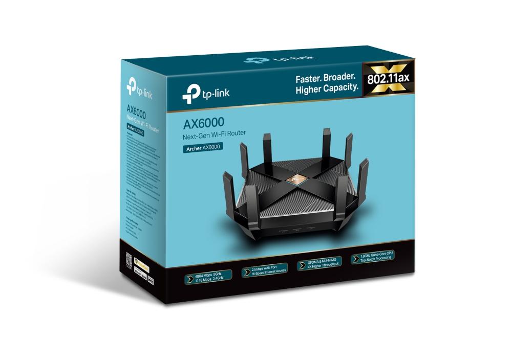 TP-Link пуска в България бързия и мощен рутер Archer AX6000 - първият от поколението Wi-Fi 6 (802.11ax)