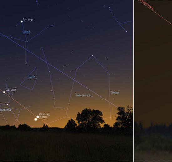 """Около 24 ноември ще наблюдаваме малък """"парад на планетите"""", формиран от Сатурн, Юпитер и Венера"""