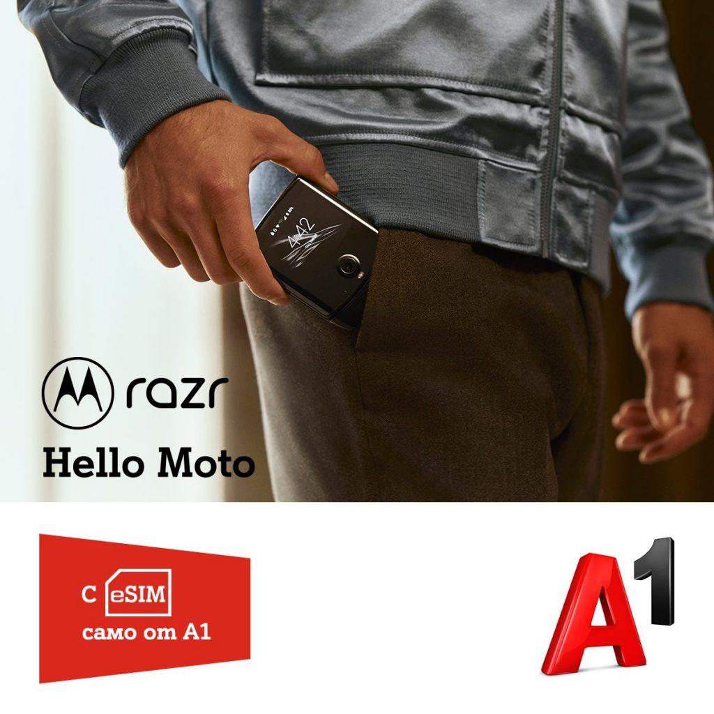 През февруари А1 пуска сгъваемия Motorola razr за предварителна продажба с eSIM