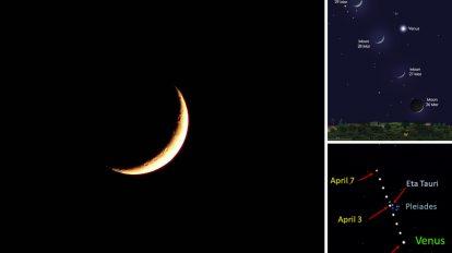 Луната, Венера и Плеядите ще ни предложат небесно шоу през следващите няколко нощи