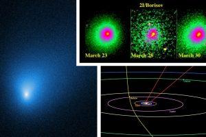 """Нови снимки от """"Хъбъл"""" на междузвездната комета 2I/Borisov показват, че вероятно се е разпаднала на две"""