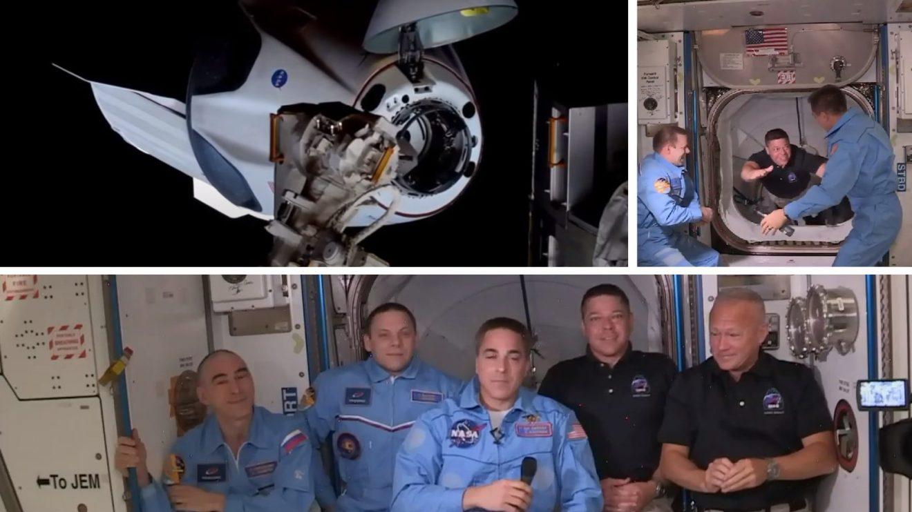 Астронавтите от кораба Crew Dragon успешно се скачиха и влязоха в МКС (видео)