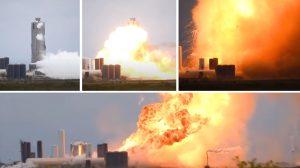 Със зрелищна експлозия завърши тестът на двигателя за новата ракета на SpaceX (видео)