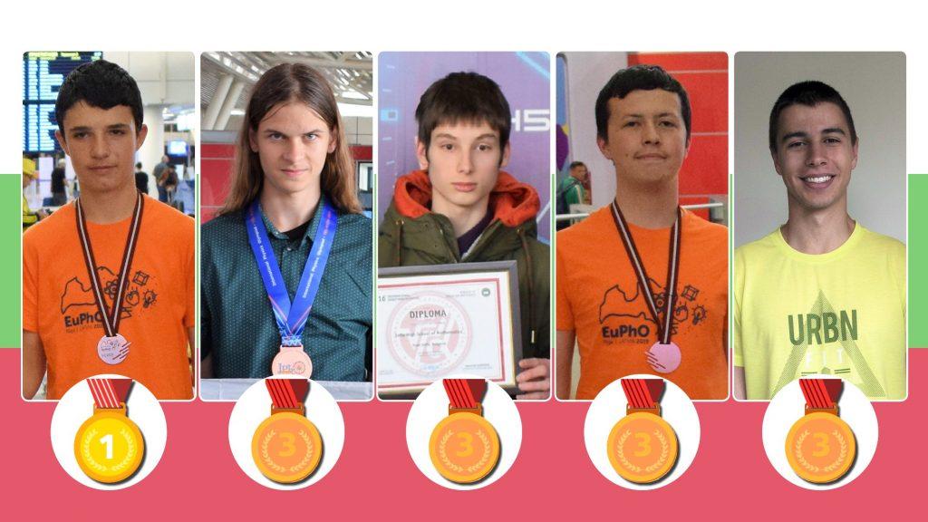 Отлично представяне и 5 медала за българските ученици на Европейската олимпиада по физика