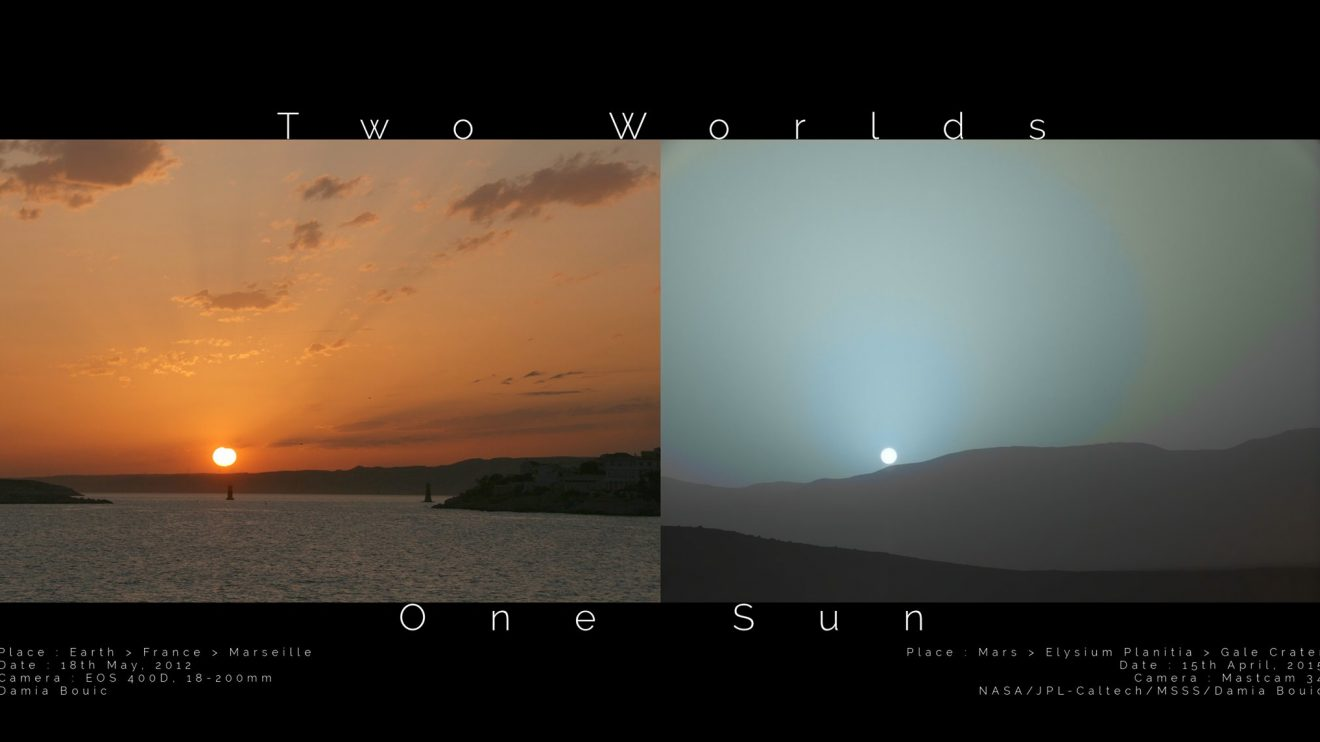 Два свята, едно Слънце! Залез на Земята и на Марс