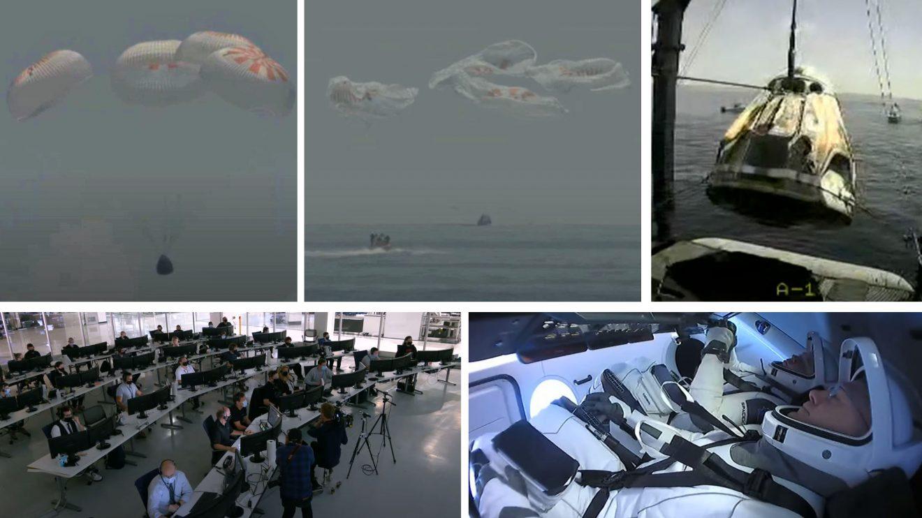 Успешно завръщане на Земята за първата пилотирана мисия на SpaceX, извела астронавти на НАСА до МКС (видео)