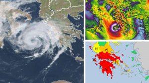 Мощният средиземноморски циклон Янос приближава южната част на Гърция (видео)
