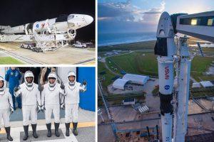 Тази нощ SpaceX изстрелва 4-ма астронавти в първата рутинна мисия с екипаж до МКС. Гледайте на живо тук (видео)