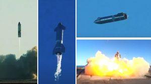 Успешен тест и зрелищен взрив при приземяване за космическия кораб Starship SN8 (видео)