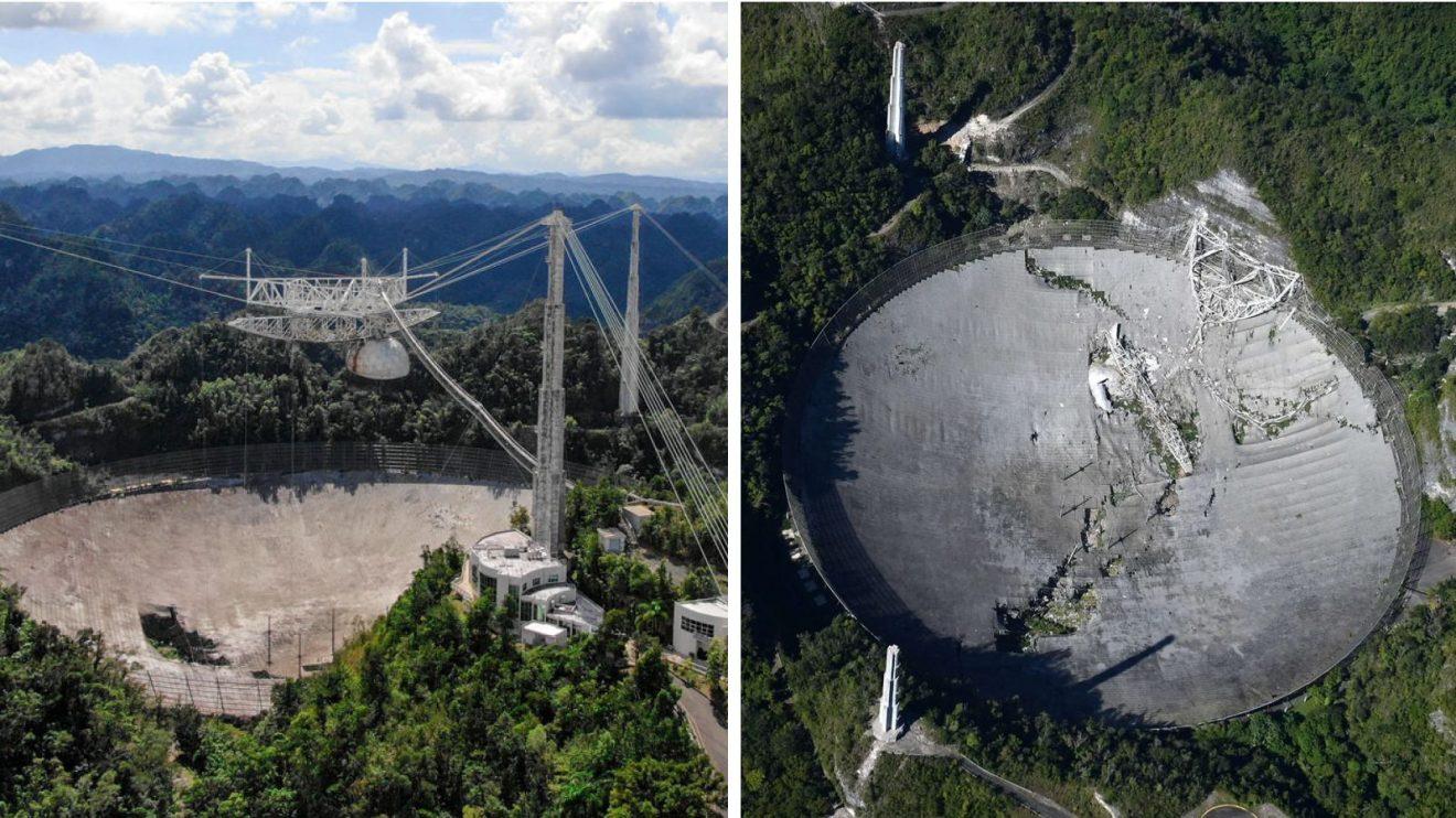 """Радиотелескопът """"Аресибо"""" рухна, следва пълното му разрушаване (видео)"""