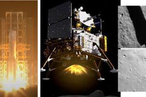 Китайската възвръщаема мисия Chang'e 5 успешно кацна на Луната (снимки и видео)