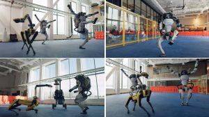 Четири робота на Boston Dynamics танцуват в новогодишното поздравление на компанията (видео)