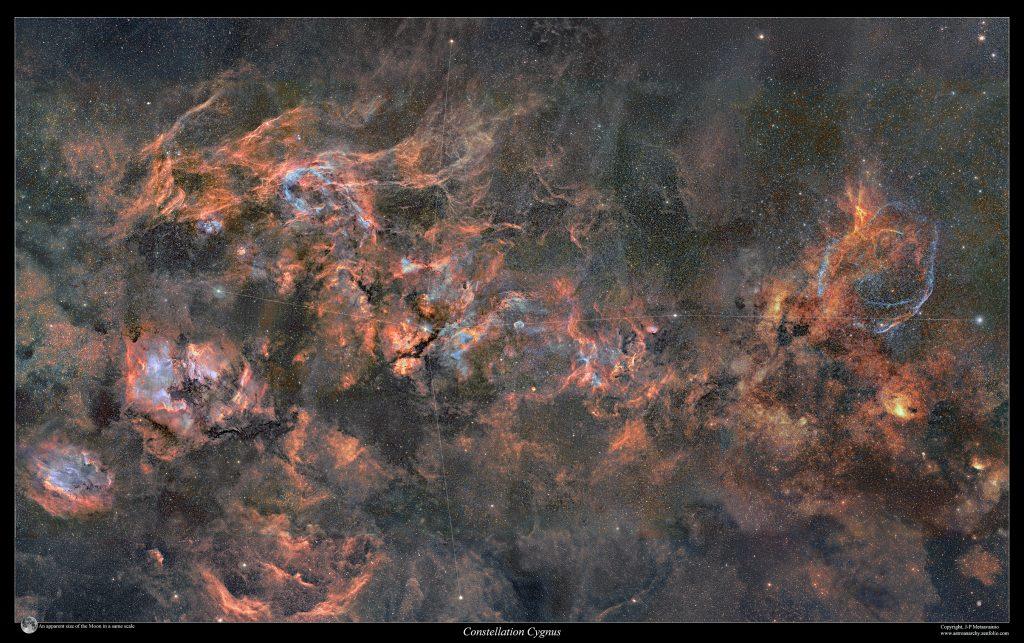 Мозайката Лебед 2010-2020 (Астрономическа снимка на деня – APOD)