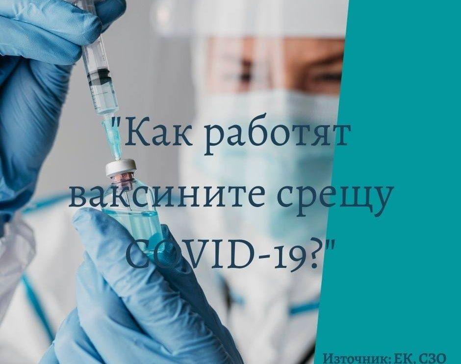 Как работят ваксините срещу COVID-19
