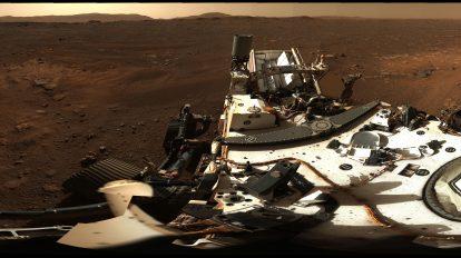 Роувърът Perseverance - марсиански ден 3 (Астрономическа снимка на деня – APOD)