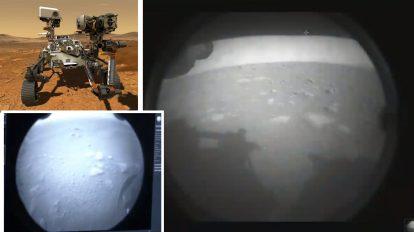 Успех! Роувърът Perseverance кацна на Марс и прати първите снимки! (видео)