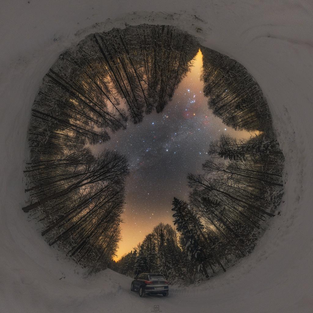 Северното зимно небе (Астрономическа снимка на деня – APOD)