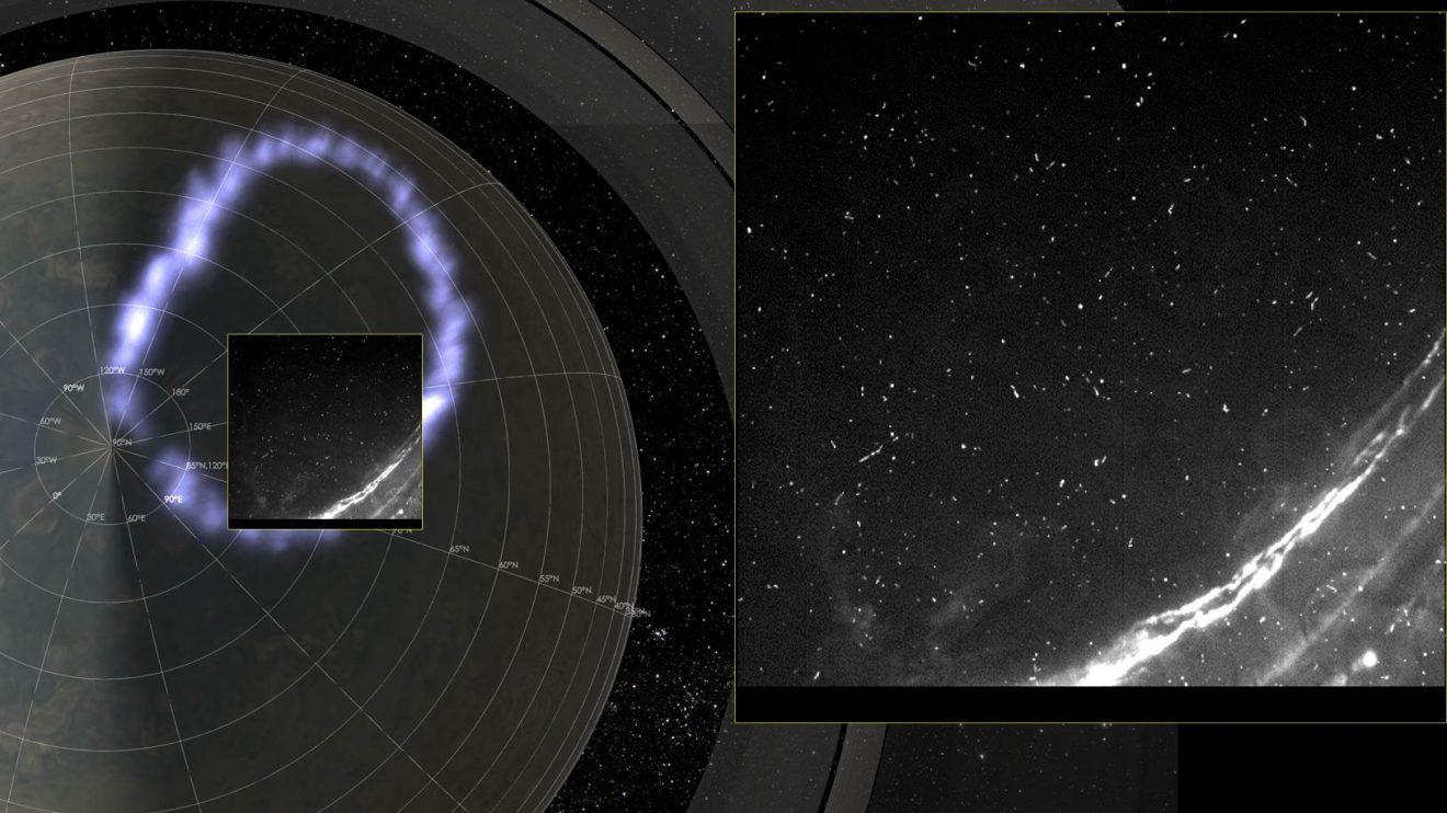 Сияния и светкавици на Юпитер (Астрономическа снимка на деня – APOD)