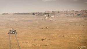 Ingenuity – мини-хеликоптерът сега е на Марс (Астрономическа снимка на деня – APOD)
