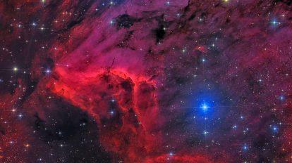 Мъглявината Пеликан в червено и синьо (Астрономическа снимка на деня – APOD)