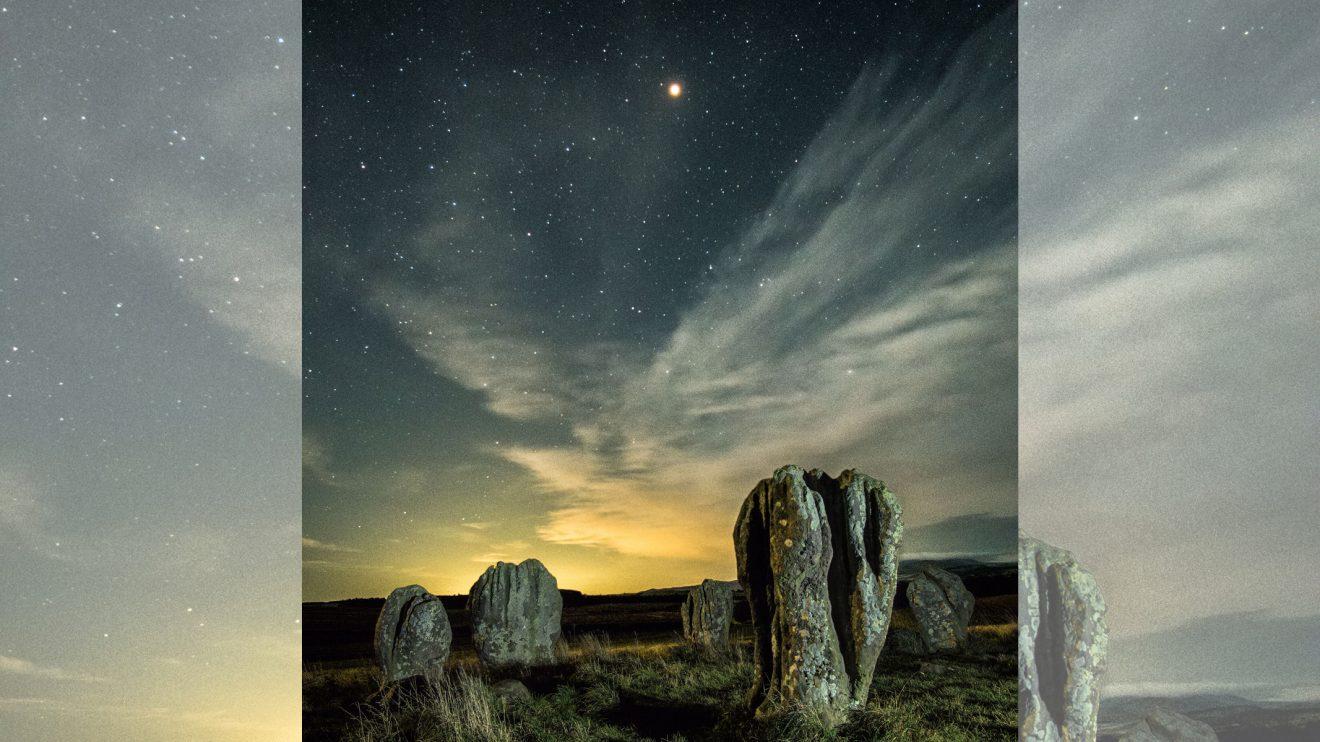 Марс над каменния кръг Duddo (Астрономическа снимка на деня – APOD)
