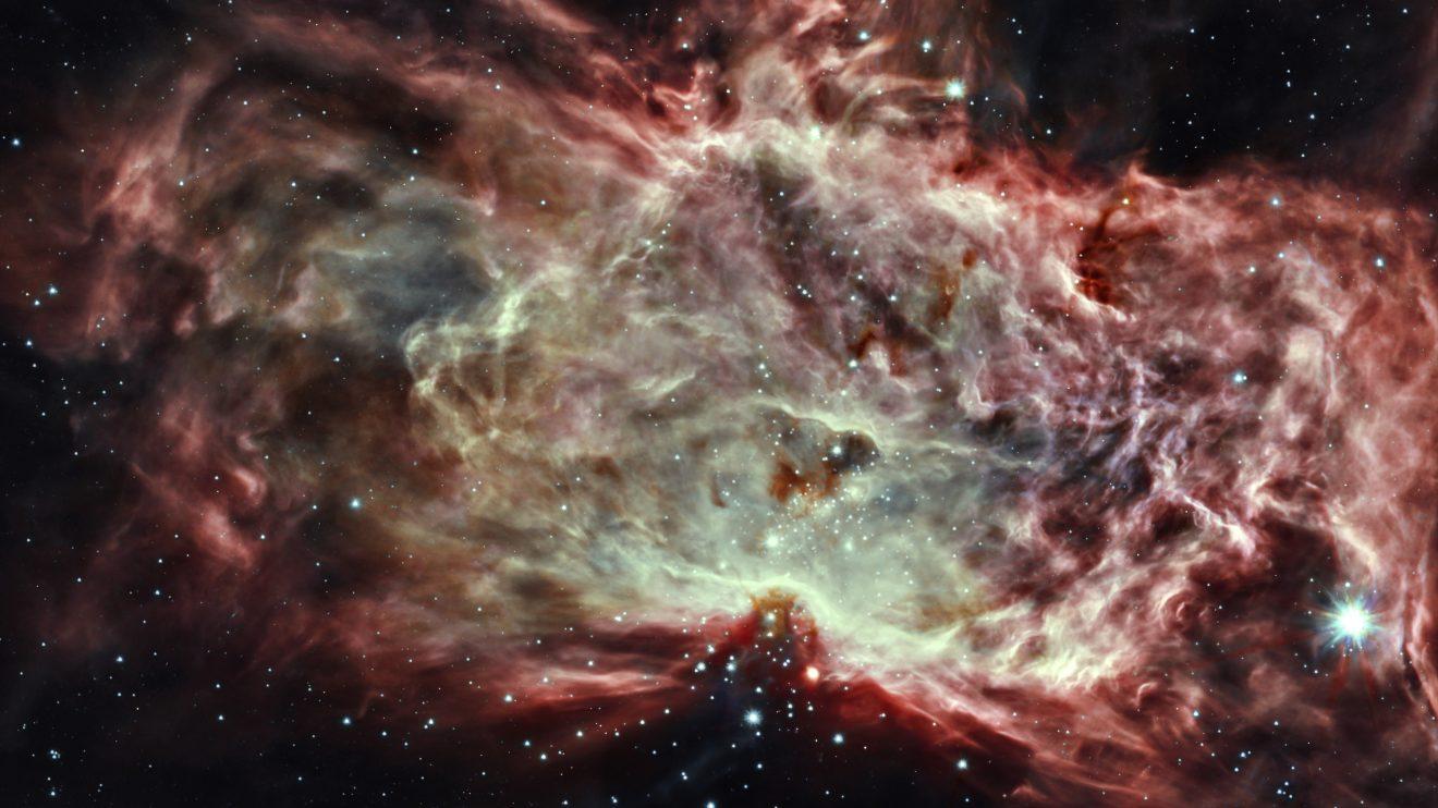 Мъглявината Пламък отвътре (Астрономическа снимка на деня – APOD)