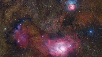 Триплетът в Стрелец (Астрономическа снимка на деня – APOD)