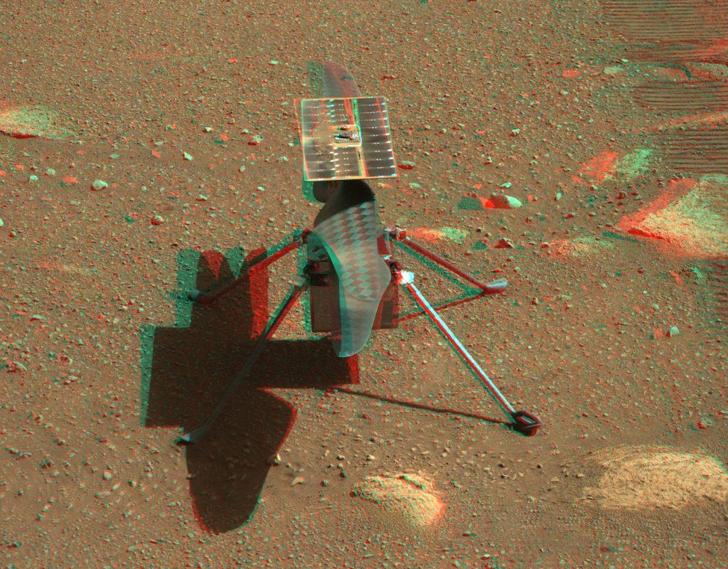 Хеликоптерът Ingenuity в 3D (Астрономическа снимка на деня – APOD)