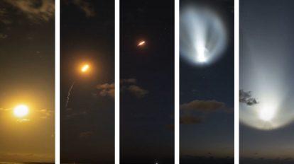 Изстрелването на мисията Crew-2 на SpaceX събрано в 9 секунди (видео) (Астрономическа снимка на деня – APOD)