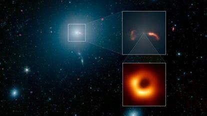 Галактиката, струята и известната черна дупка (Астрономическа снимка на деня – APOD)