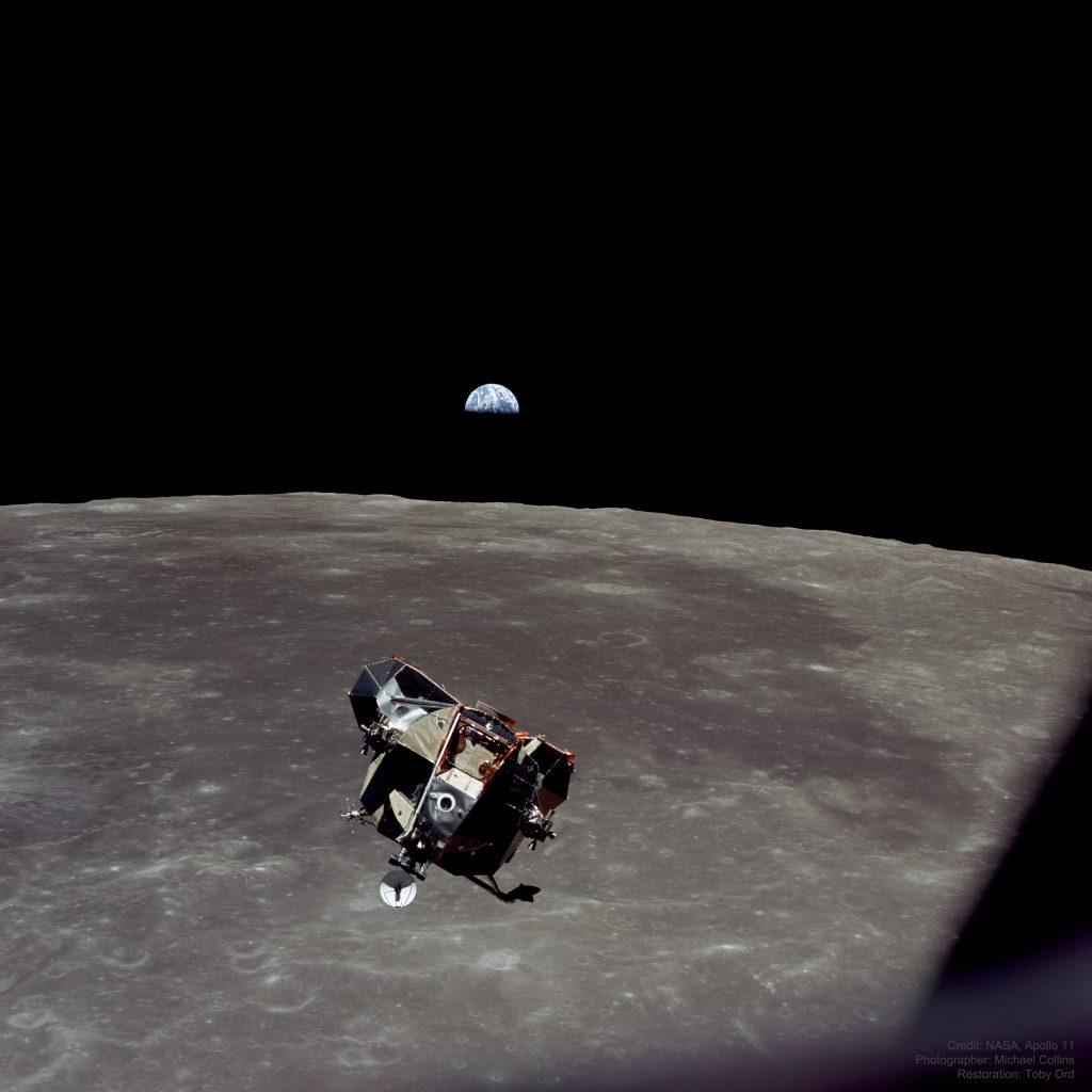 Аполо 11: Земя, Луна, Космически кораб (Астрономическа снимка на деня – APOD)