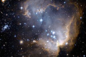 NGC 602 и отвъд него (Астрономическа снимка на деня – APOD)
