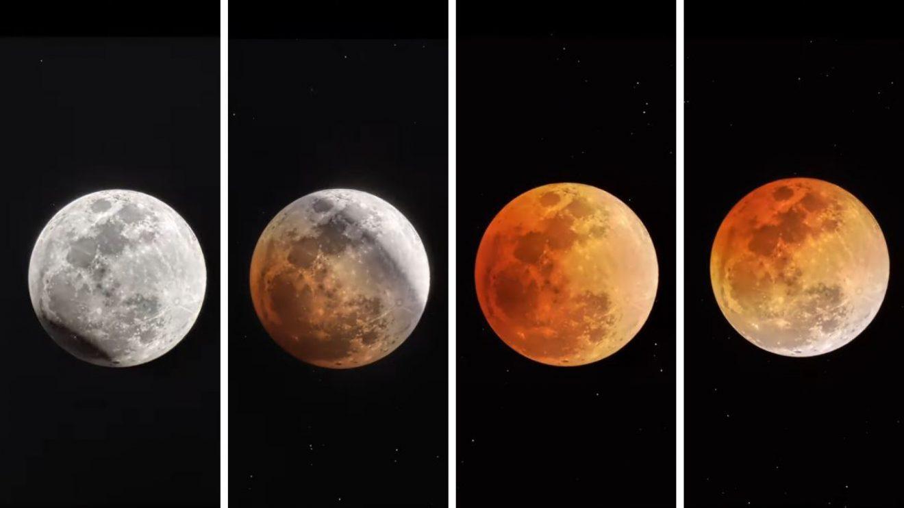 Луната по време на пълно лунно затъмнение (видео)(Астрономическа снимка на деня – APOD)
