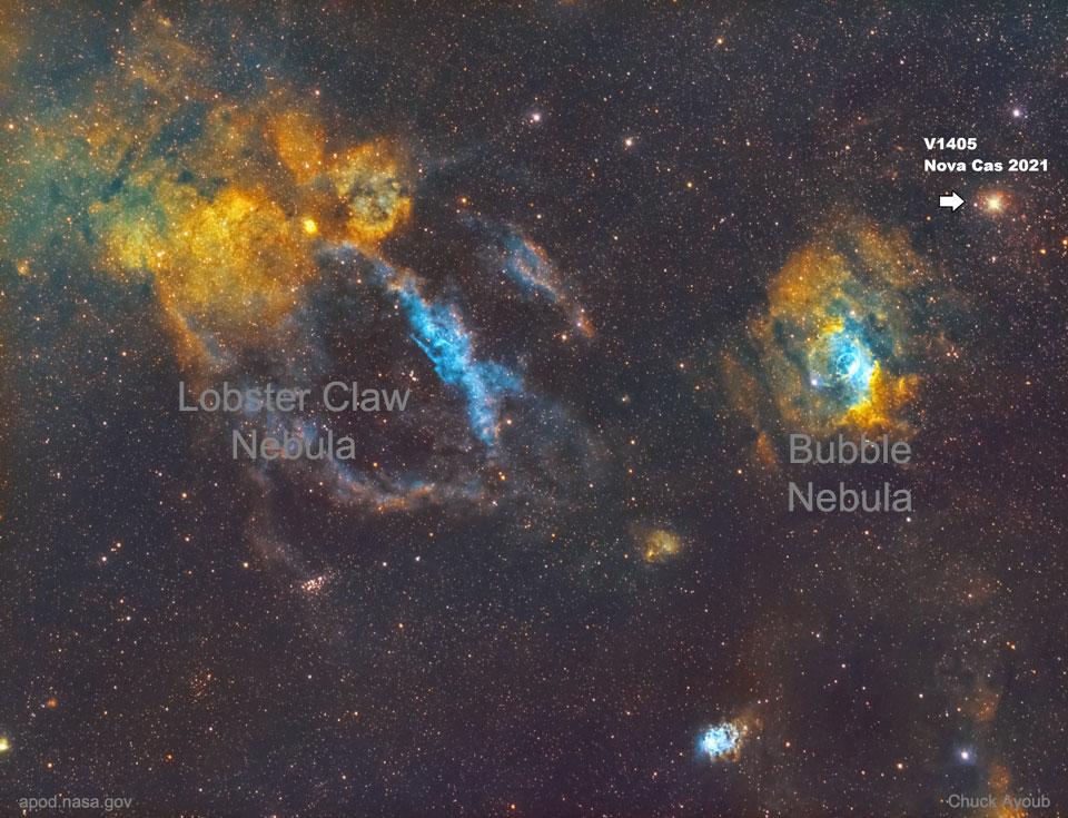 Ярка нова в Касиопея (Астрономическа снимка на деня – APOD)
