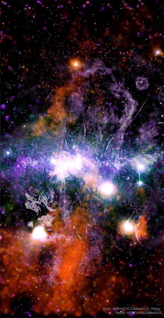 Центърът на Галактиката - звезди, газ и магнетизъм (Астрономическа снимка на деня – APOD)